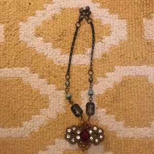 Anthropologie drop statement necklace